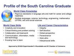 TransformSC – Profile of the Graduate