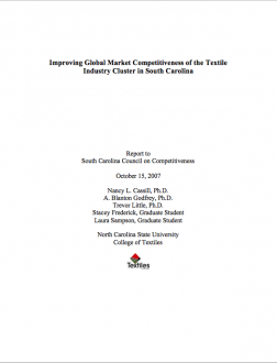 Textiles: Improving Global Market Competitiveness of the Textile Industry Cluster in South Carolina