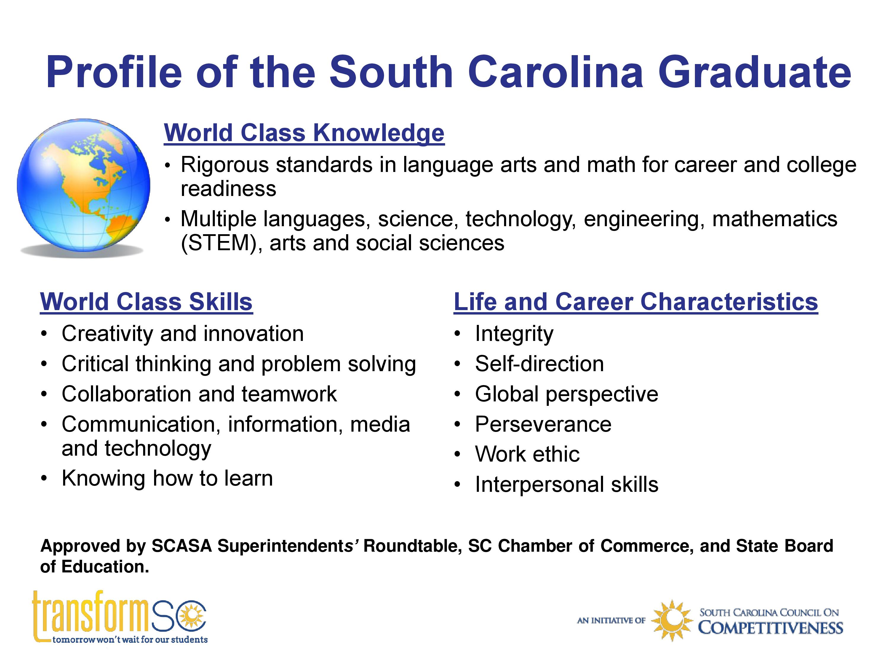 Image result for profile of the south carolina graduate