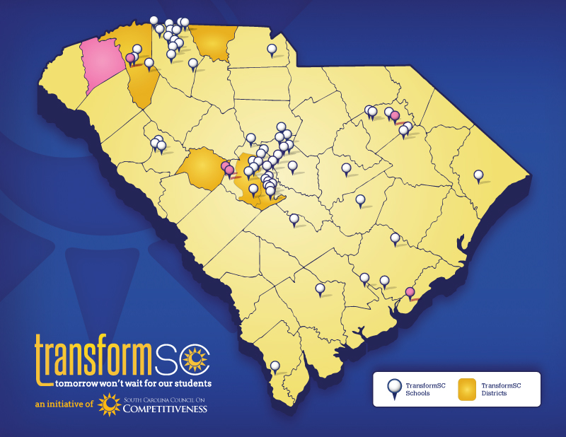 5 schools & 1 district join TransformSC's innovative network