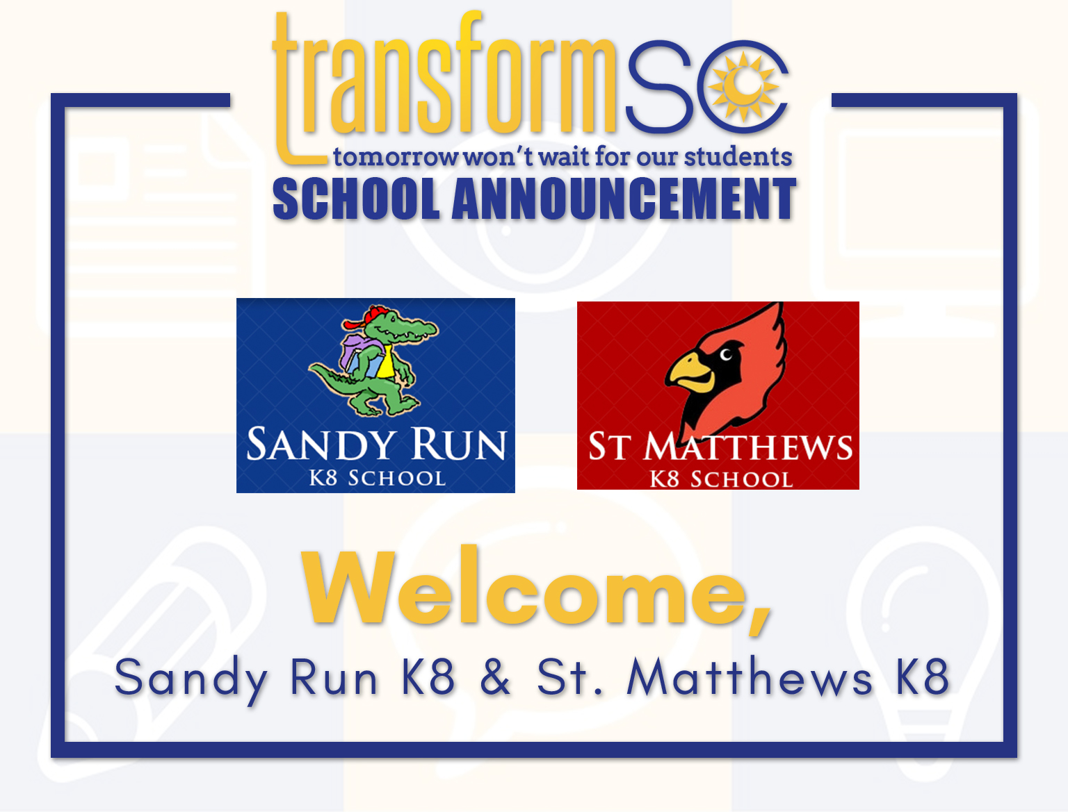 TRSC School Announcement_SandyRun_St.Matthews